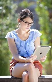 Ipad User in park