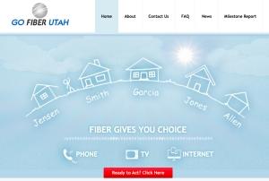 GoFiberUtah.Org home page.