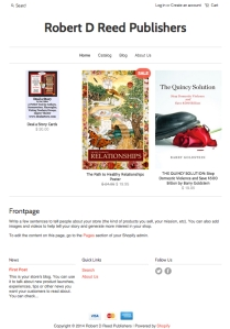 Modern, Search Optimized, Mobile Responsive Web Store for RDRPublishers.com